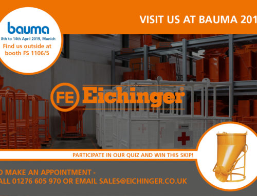 Bauma 2019 | Come and see us! | Win a skip!